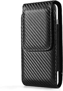 Black Vertical Belt Hip Case Pouch Bag Holster w/Swivel Clip for Apple iPhone 8 7 Plus/LG G6 V30 / Motorola Moto G6 G5s E5 Plus / X4 / G6 E5 Play/BlackBerry Motion/KEYone