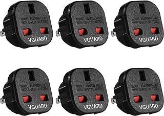 VGUARD UK naar US adapterstekker, 6 stuks reisadapter voor 3-pins UK adapter naar de US, Canada, Japan, China, Australië, ...