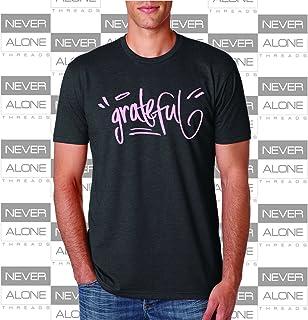 Grateful Men's T-shirt, yoga, clothing, breast cancer awareness, fashion
