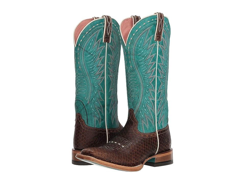 Ariat Vaquera (Diamondback Tan/Topaz Torquoise) Cowboy Boots