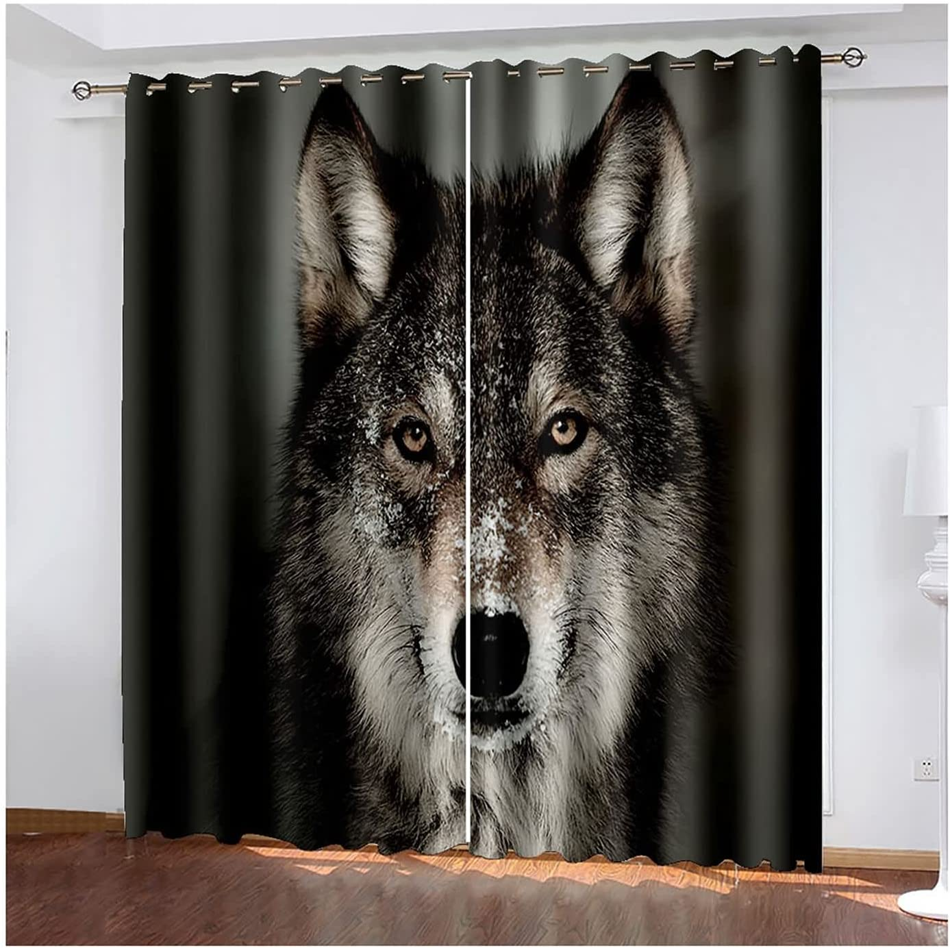 Curtains Los Angeles Mall Living Popular Room 2 Panels Design Bedroom for Wolf