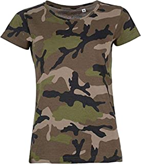 9392edb1cfefb Amazon.fr : Camouflage - T-shirts, tops et chemisiers / Femme ...