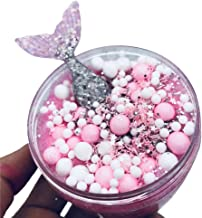 Kids Clear Slime,Glitter Putty Stress Relief Mud Toy Scented Fairy Mermaid Fluffy Crystal Clay Toy for Children Adults (B)