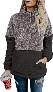Dokotoo Womens Fashion Oversize Fluffy Fleece Sweatshirt Pullover Outwear S-XXL