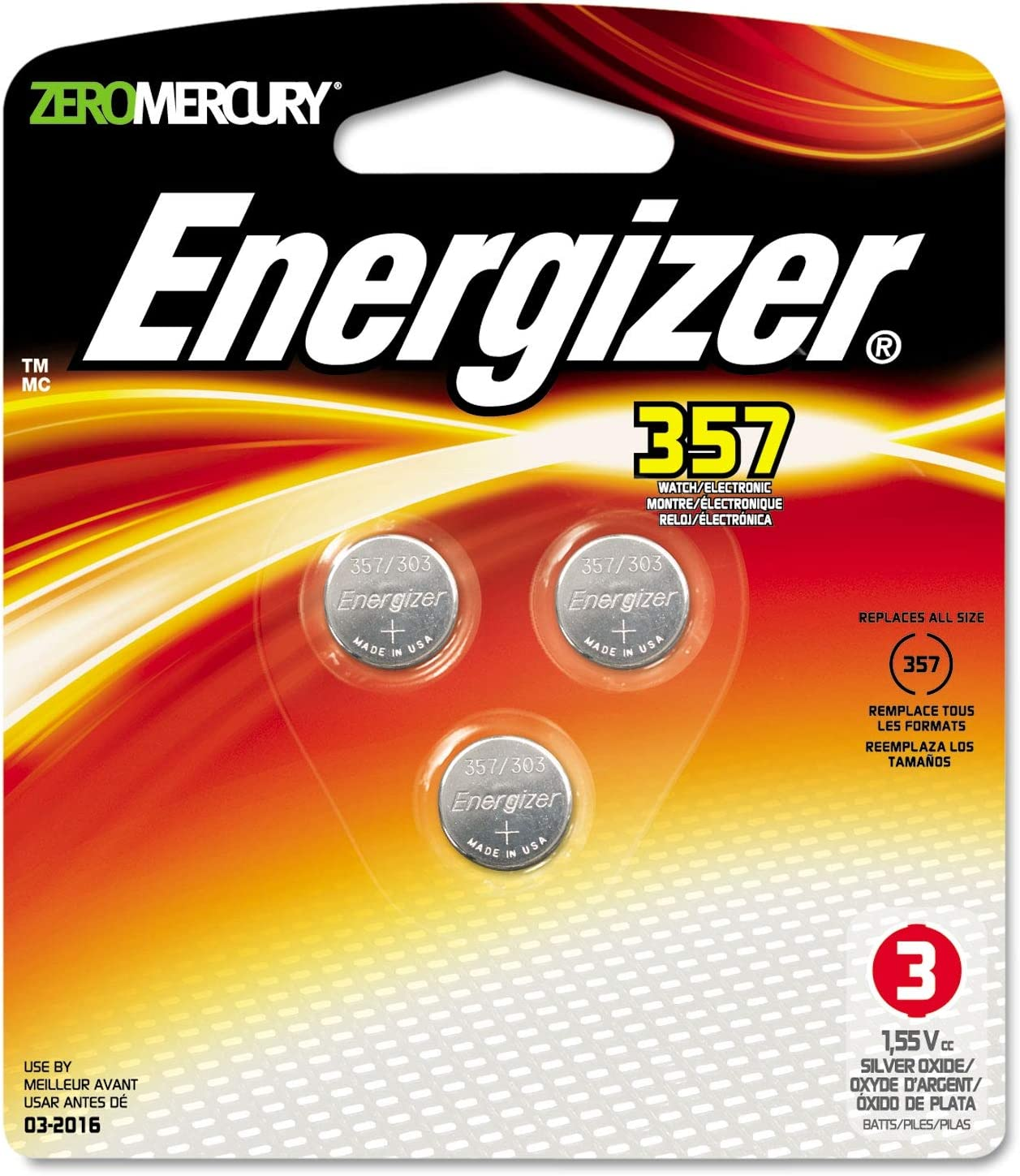 Energizer Battery 357BPZ-3 Watch Button Purchase Calculator Max 82% OFF Cell