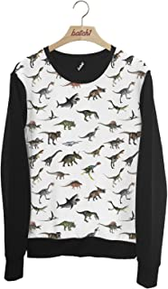 Batch1 Dinosaur All Over Fashion Print Jurassic Animal Print Unisex Sweatshirt