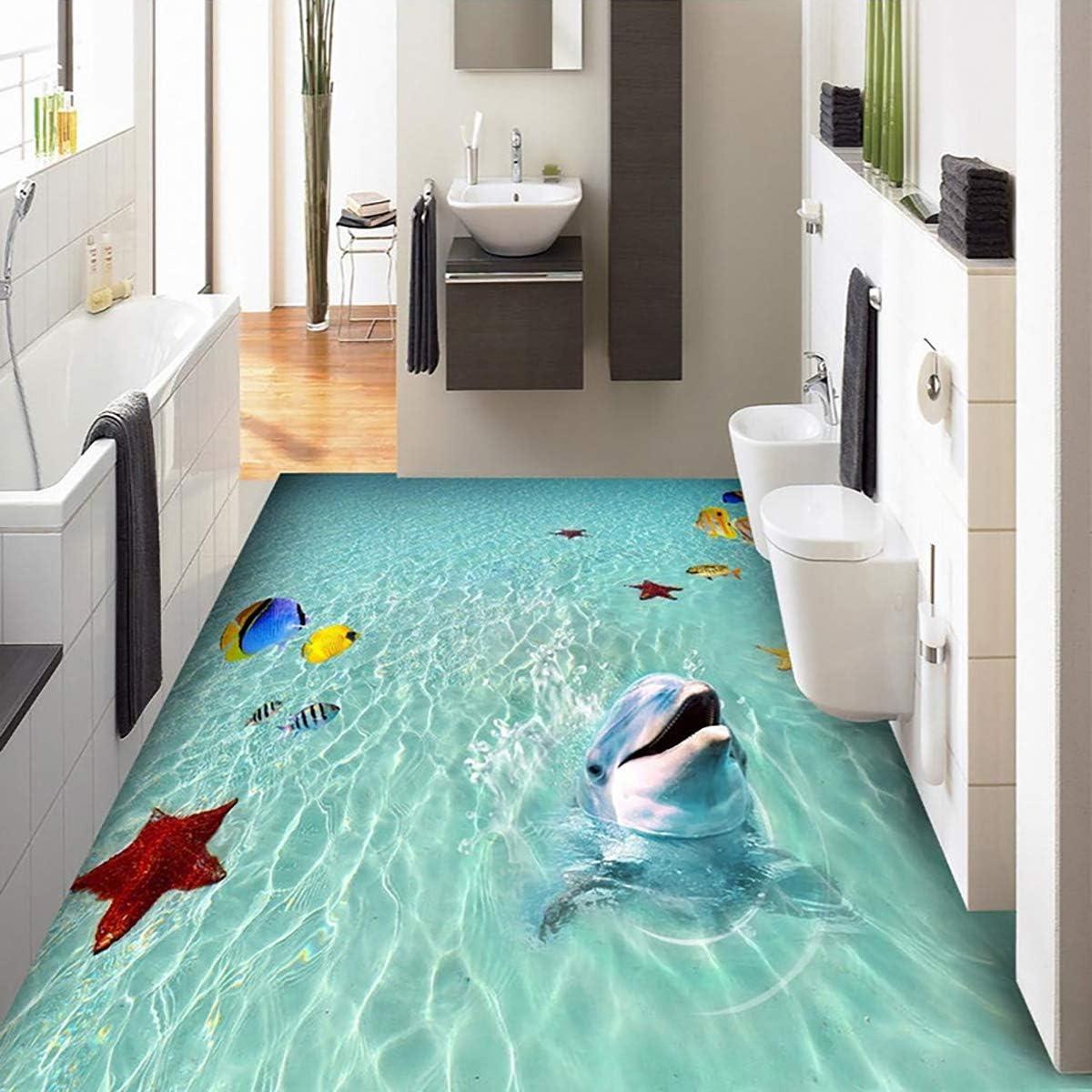 ECYC 3D Water Waves Beach Tiles Ocean Creative Floor Waterproof Max 59% Max 84% OFF OFF