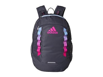 adidas Excel V Backpack (Onix/Glow Blue/Shock Pink) Backpack Bags