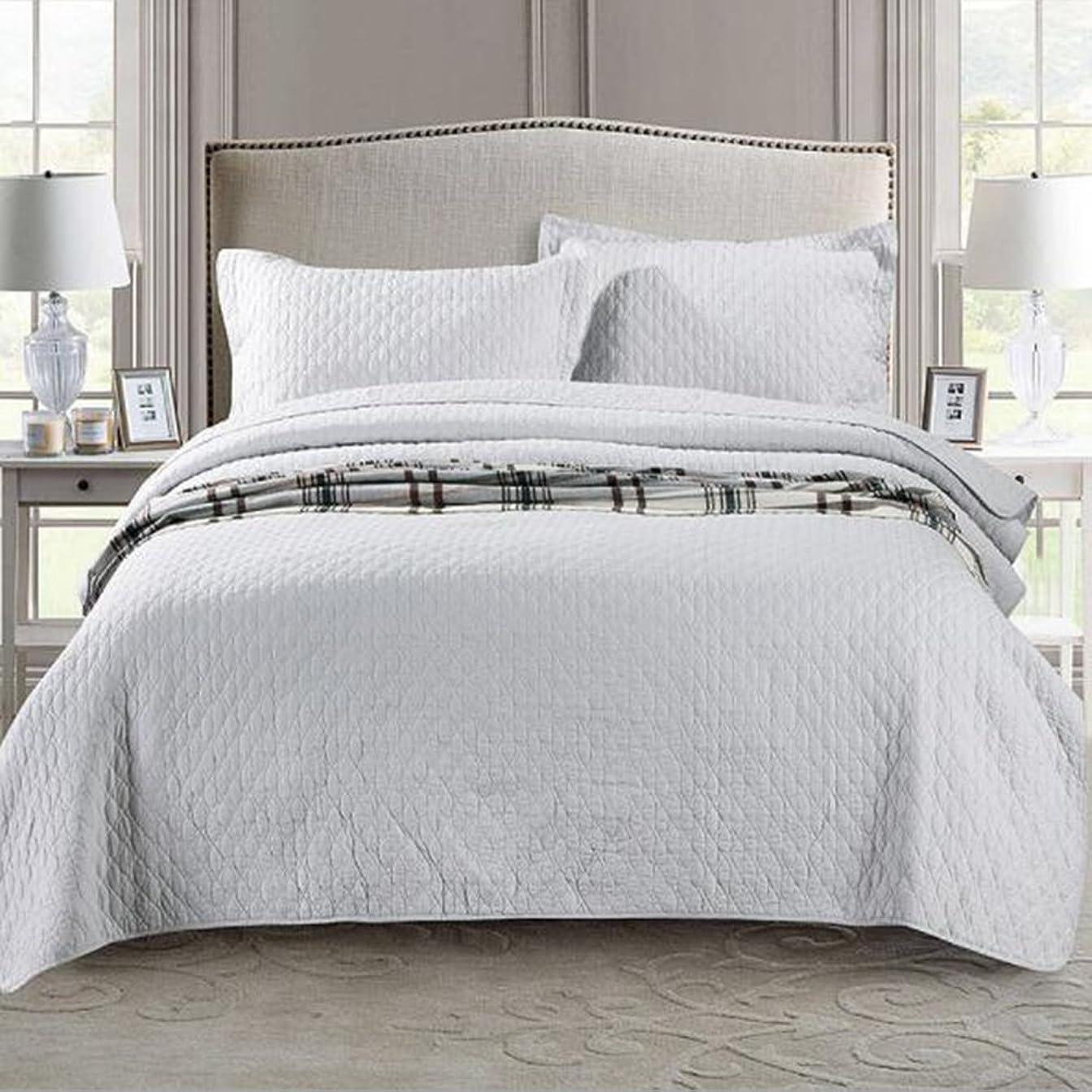 誘うぬれた麦芽北欧ベッドカバー ソファーカバー ベッドスプレッド マルチ カバー キルト おしゃれ ダブル 綿100% 枕カバー 寝具カバーセット 3点セット 四節適用 優しい肌触り-yt-x020 (L)