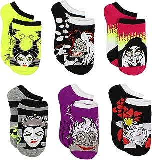 Disney Villains Teen Womens 6 Pack Socks (Teen/Adult)