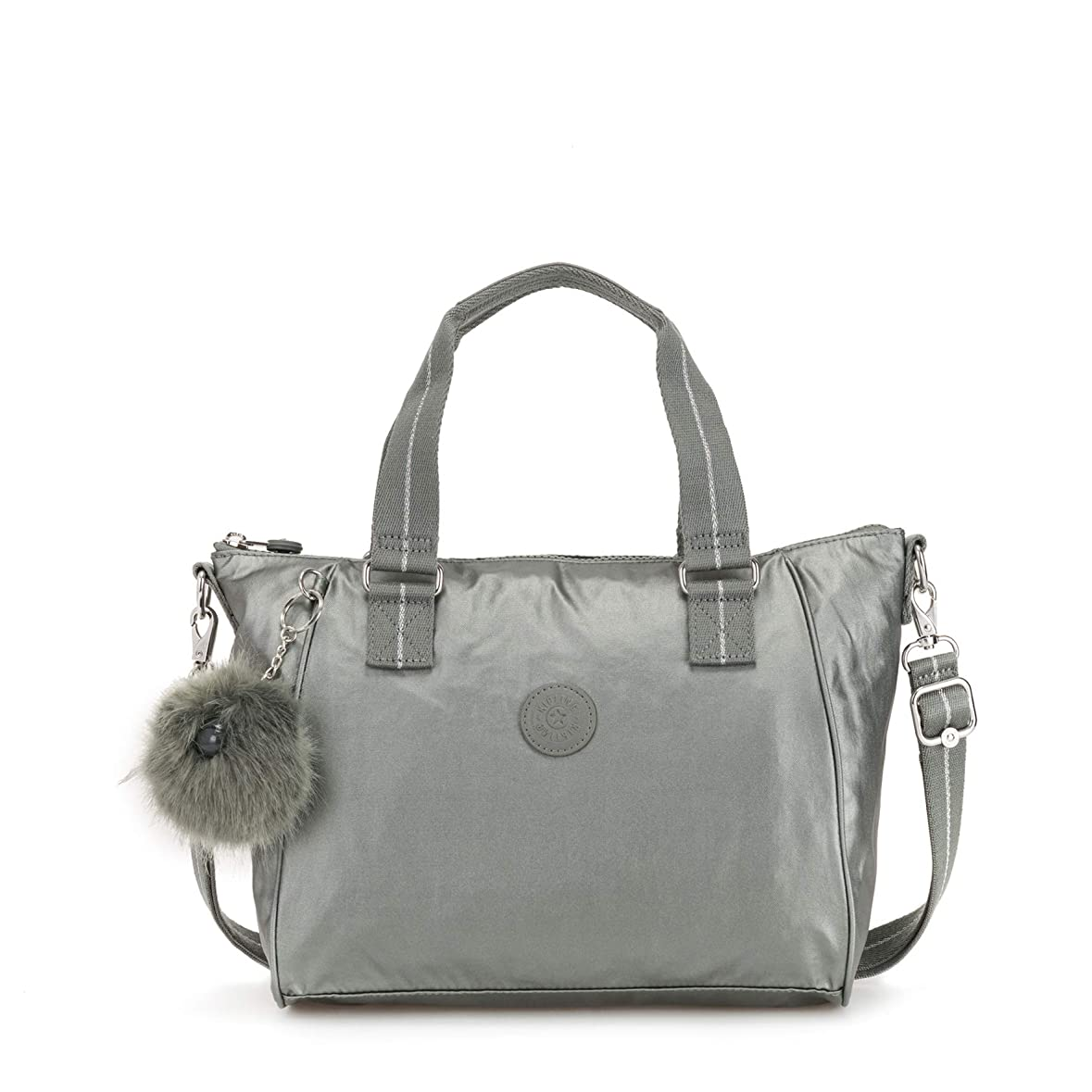 うるさい不安定入札(Grey (Metallic Stony)) - Kipling Women's Amiel Handbag