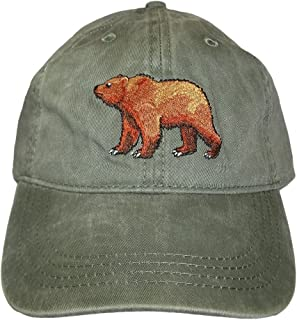 ECO Wear Embroidered Grizzly Bear Wildlife Baseball Cap