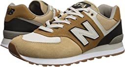 mens new balance 574 trainers yellow