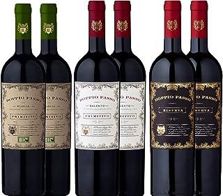 6er Probierpaket - Doppio Passo Primitivo Salento   Riserva   Bio - italienischer Rotwein aus Apulien   6 x 0,75 Liter