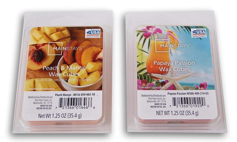 Summer Scents Wax Cubes Bundle - Peach & Mango and Papaya Passion