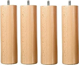 4 Pieds de Lit Pour Sommier Bois Standard Hauteur 25 cm
