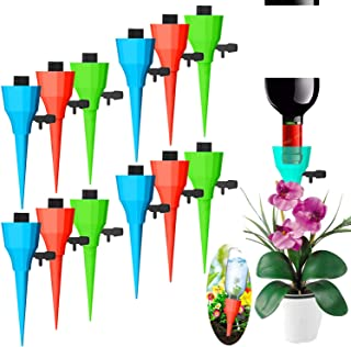 New Plant Watering Spikes Self Watering Devices with Slow Release Control Valve Switch, Self Irrigation Watering Drip Devi...