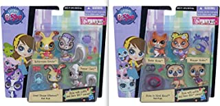Littlest Pet Shop Playset Bundle - Sweet Shoppe Afternoon Pet Pair and Styles To Howl About Pet Pair