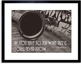 The Art Stop Music Quote Louis Armstrong Ask Jazz Never Know Framed Print F97X3905