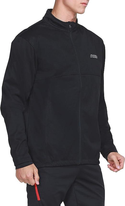 bpbtti Men's Cycling Bike Thermal Jacket,Winter Fleece Running Jackets Softshell Windbreaker Coat