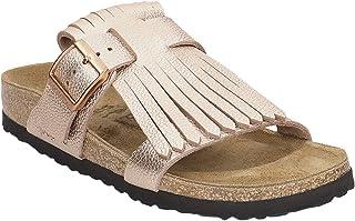 9a016d564d4e Papillio Unisex Maddie Fringe Metallic Leather Sandals