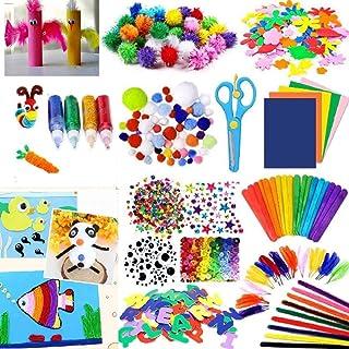 700 pcs DIY Arts Kit Craft Set Creative Assorted Craft Supplies Arts and Crafts for Kids Toddler Crafting Materials Toys S...