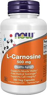 NOW Supplements, L-Carnosine (Beta-Alanyl-L-Histidine) 500 mg, Healthy Aging, 100 Veg Capsules
