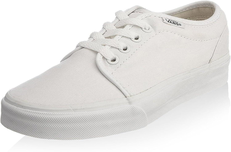 Vans Unisex 106 Vulcanized Skate Shoes (True White) 6.5
