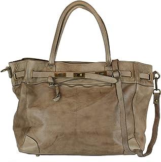 BZNA Bag Mila taupe Braun vintage Italy Designer Business Damen Handtasche Ledertasche Schultertasche Tasche Leder Shopper...