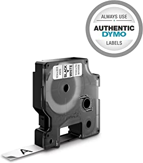 """DYMO Standard D1 Labeling Tape for LabelManager Label Makers, 1/2"""" W x 23' L, Black print on White tape, 1 cartridge (45113)"""