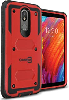 CoverON Heavy Duty Tank Series for LG Aristo 4 Plus Case/LG Prime 2 Case Red A425-CO-LGARISTO4PLUS-HY3-RD