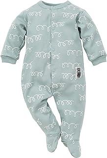 Pinokio Happy Llama - Baby Schlafanzug 100% Baumwolle - Unisex Jungen Mädchen Schlafanzug Einteilig - Strampler - Overall Weiß Mint Türkis Orange