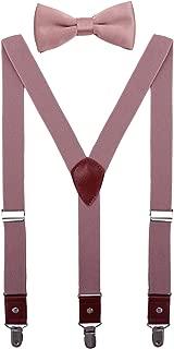 Men Boys Suspenders and Bow Tie Set Adjustable Y Back