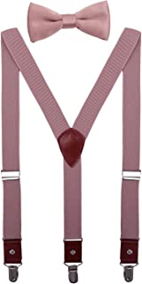 Men Boys Suspenders and Bow Tie Set Adjustable Y Back