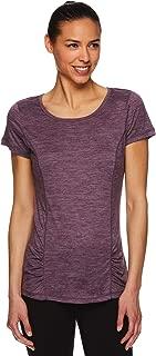 Gaiam Women's Open Back Yoga T Shirt - Short Sleeve Workout Exercise & Training Top
