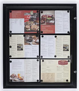 Displays2go Weather Resistant Bulletin Board with Swing-Open Locking Door, Wall Mounted Notice Board with Magnetic Display Surface - Aluminum (Black) (ODM851132)