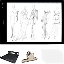 HUION A3 Size Lightness Adjustable Built-In Battery USB Cable Drawing Tracing Stencil Board Tattoo Light Box with Kenting ...