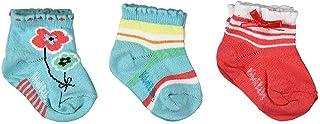Bóboli, Calcetines para niña (3 unidades, tallas 16-27), color azul claro y coral