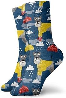 Hangdachang, Schnauzer impermeable perro calcetines personalizados deporte atlético calcetín de 11,8 pulgadas para hombres y mujeres