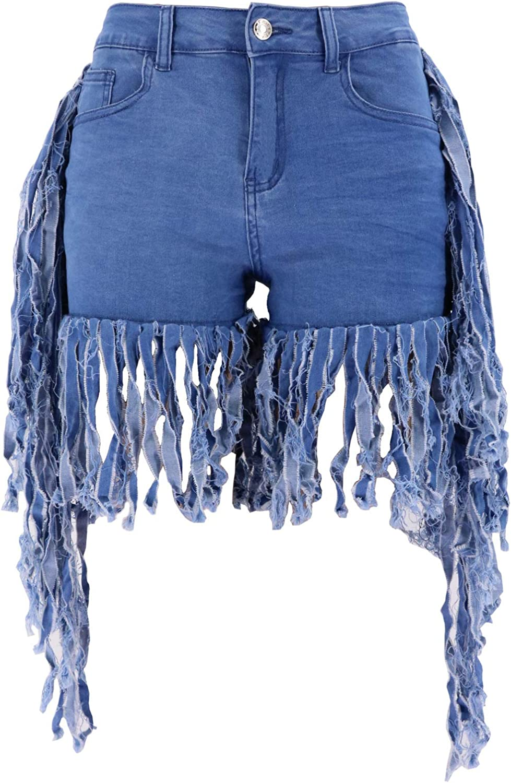 Summer Factory Direct Supply ofhigh-Elastic Low Waist Side Bone feet Long Current soda Women's Denim Shorts