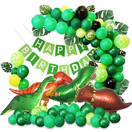 for Two Year Old Second Birthday Brontosaurus Apatosaurus Dinosaur 2nd Birthday Balloon Bundle Party Decorations