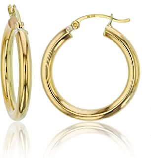 Best big gold hoop earrings 14k gold Reviews
