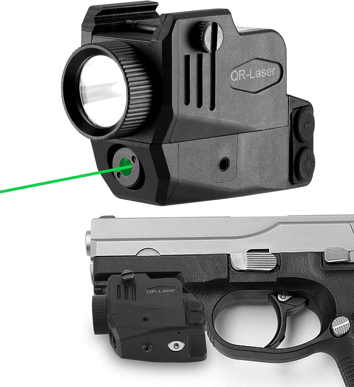 QR-Laser Green Laser Sight Gun Light Combo 500 Lumens Tactical Flashlight