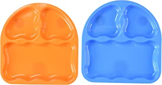 First Essentials by NUK Tri-Suction Plates, Assorted Colors, 2-Pack