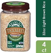 RiceSelect Texmati Light Brown Rice, Long Grain American Basmati, 32 oz Jars (Pack of 4)