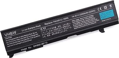 vhbw Akku 2200mAh 14 4V f r Notebook Laptop Toshiba Dynabook Equium Satellite Pro wie PA3451U-1BRS PABAS067 PA3457 PA3457U-1BRS PA3465 PA3465U-1BR Schätzpreis : 16,99 €