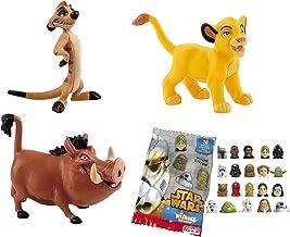 Lote 3 Figuras Comansi EL Rey Leon. Simba - Timón - Pumba + Regalo