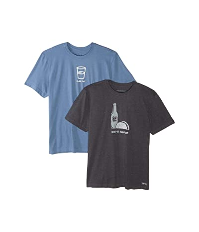 Life is Good 2-Pack Half Full T-Shirt Bundle (Multi) Men