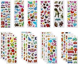 Vicloon 22 Feuilles Autocollants 3D pour Enfants Stickers 500+Pack,3D en Relief, Autocollants de Variétés pour Récompenser...