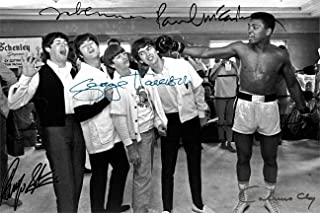 Beatles Muhammad Ali Autograph Replica Super Print - Knockout - Landscape - Unframed